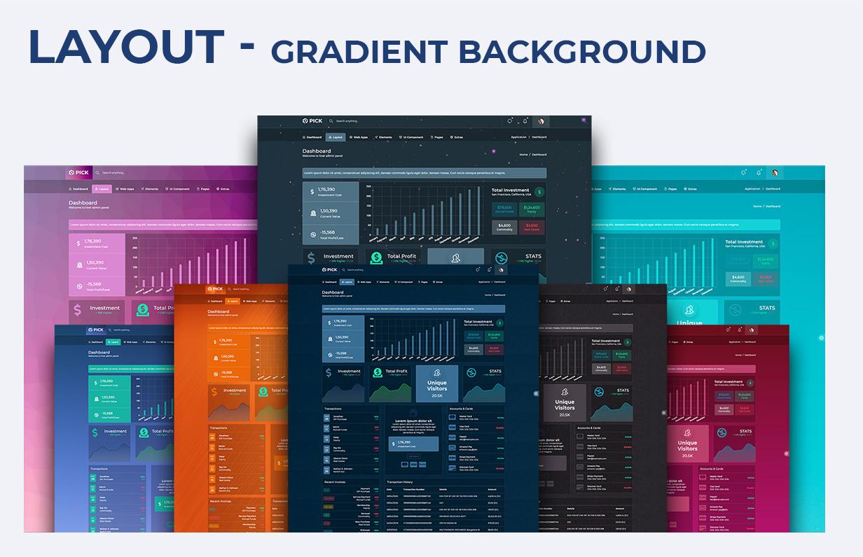 slurp gradient - Pick - HTML & Codeigniter 4 Responsive Admin Dashboard Template
