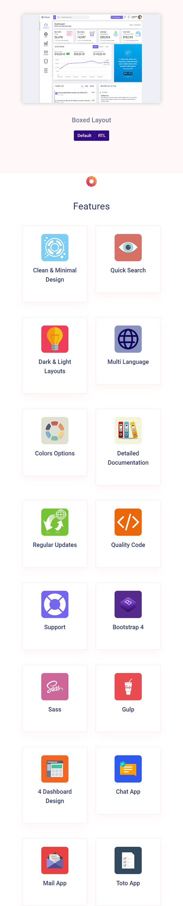 Pollo - Clean & Minimal Bootstrap Admin Dashboard Template - 3