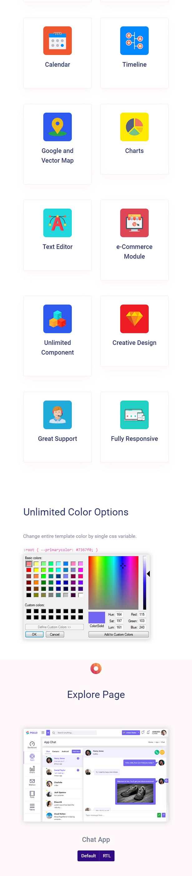 Pollo - Clean & Minimal Bootstrap Admin Dashboard Template - 4